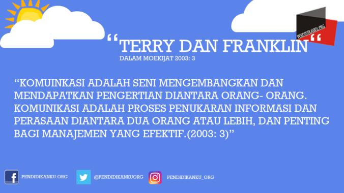 Komunikasi Menurut Terry dan Franklin