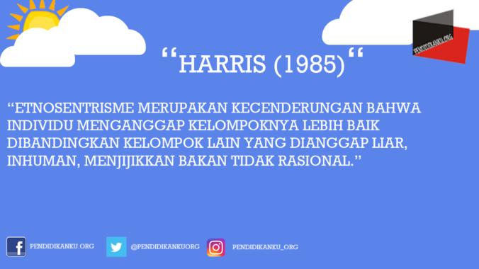 Menurut Harris (1985)
