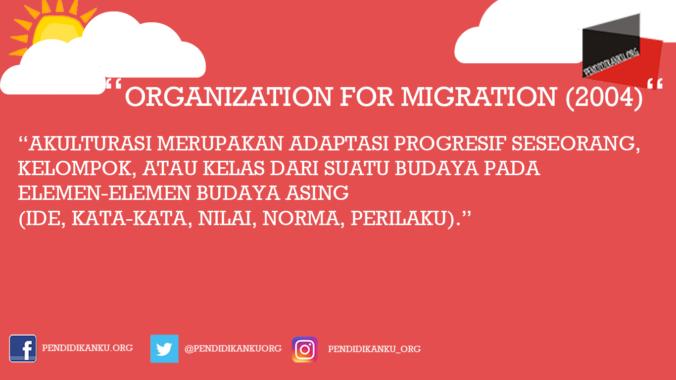 Akulturasi Menurut Organization for Migration (2004)