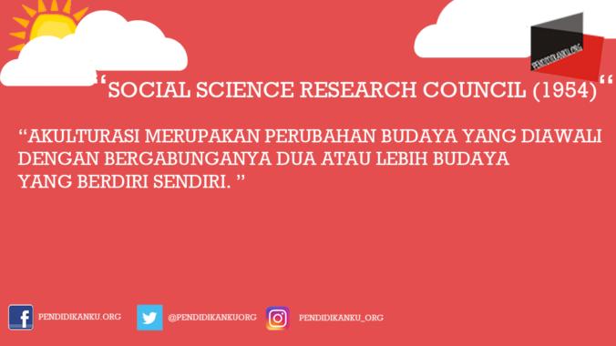 Akulturasi Menurut Social Science Research Council (1954)