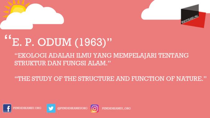 E. P. Odum (1963)