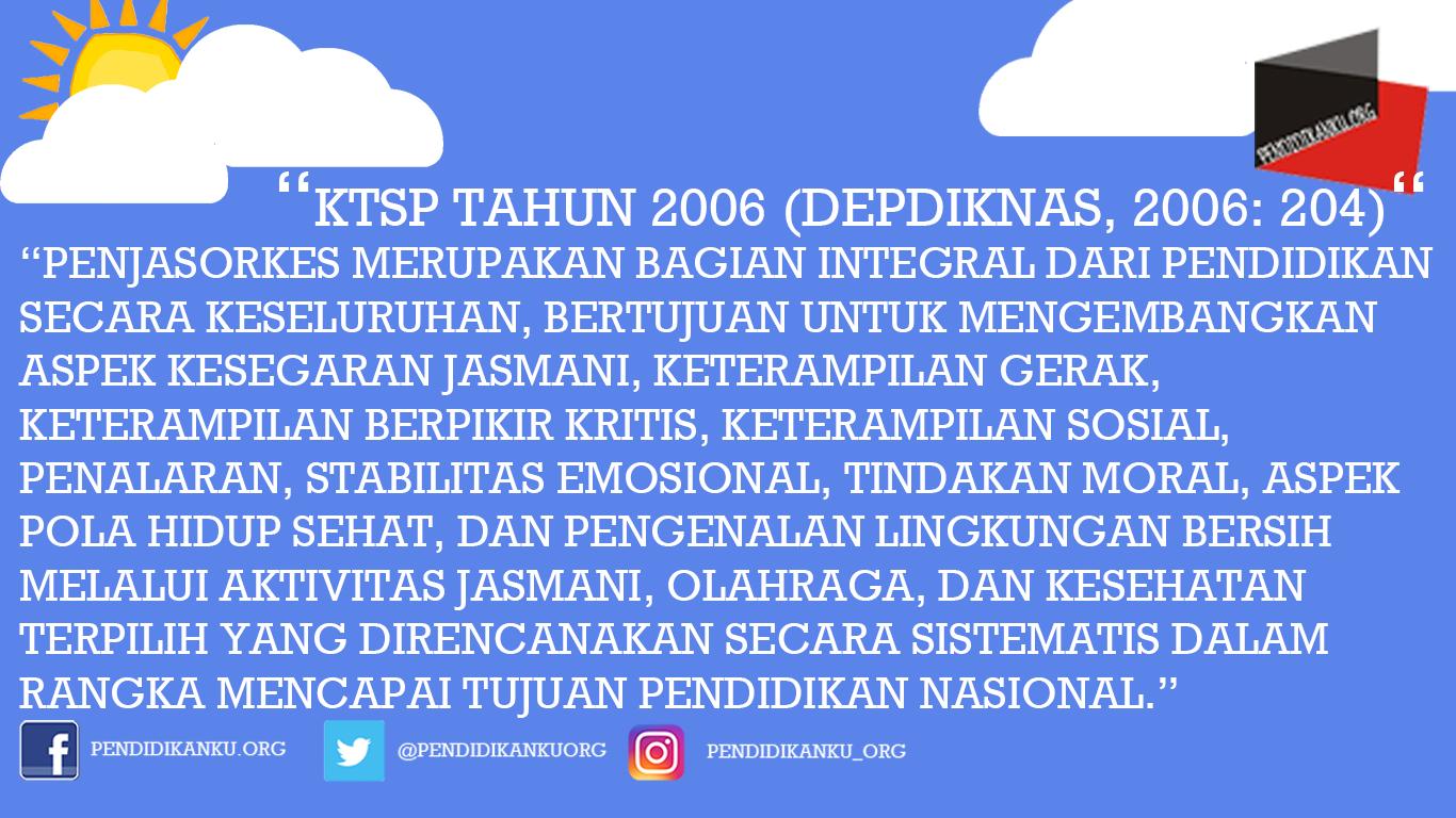 KTSP tahun 2006 (Depdiknas, 2006: 204)