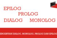 Pengertian Dialog, Monolog, Prolog Dan Epilog