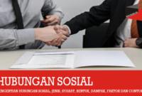 Pengertian Hubungan Sosial