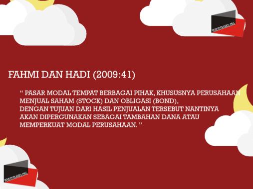 Fahmi dan Hadi (2009:41)