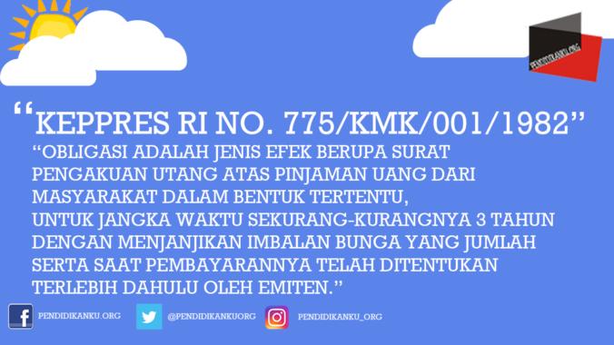 Keppres RI No. 775/KMK/001/1982