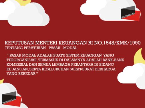 Keputusan Menteri Keuangan RI No.1548/KMK/1990