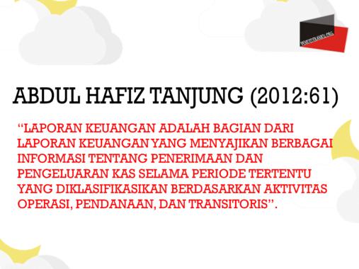 Abdul Hafiz Tanjung (2012:61)