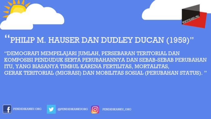 Philip M. Hauser dan Dudley Ducan (1959)
