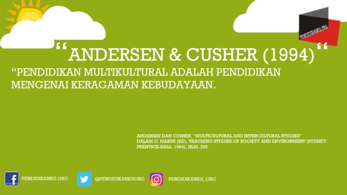 Multikultural menurut Andersen & Cusher (1994)
