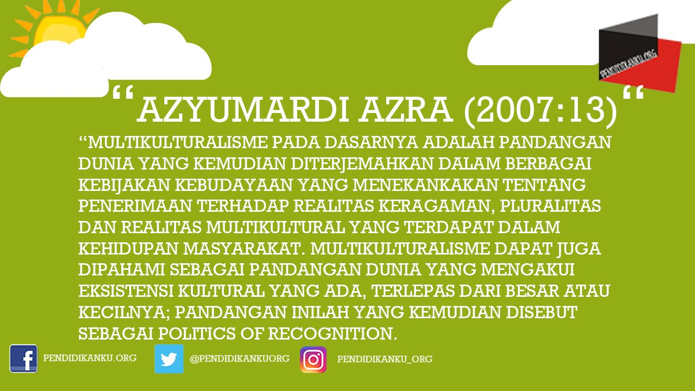 Multikultural menurut Azyumardi Azra