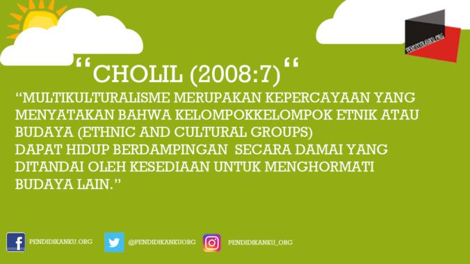 Multikultural menurut Cholil