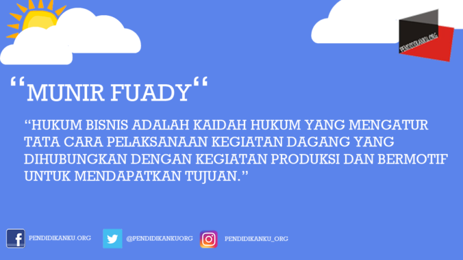 Hukum Bisnis Menurut Munir Fuady