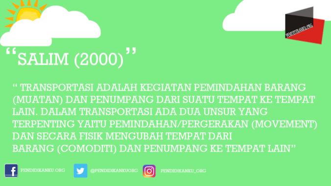 Transportasi Menurut Salim (2000)