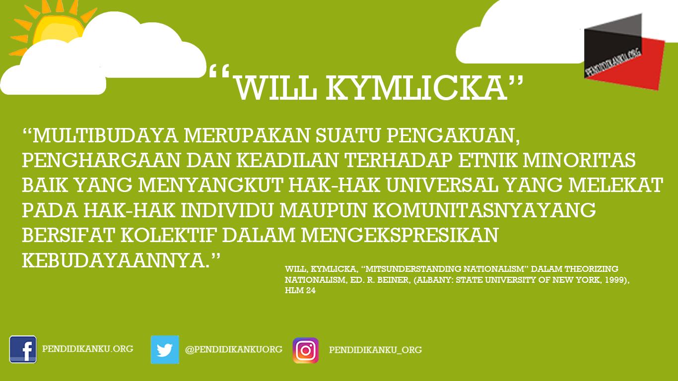 Multikultural menurut Will Kymlicka