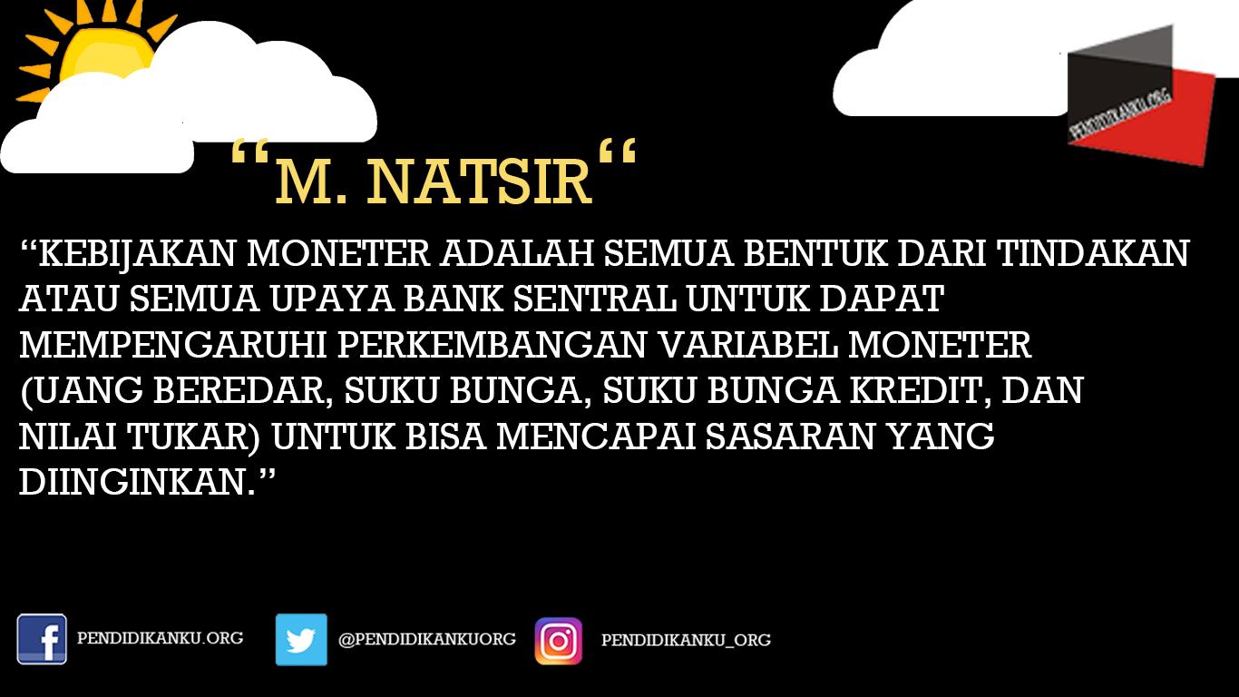 Kebijakan Moneter Menurut M. Natsir