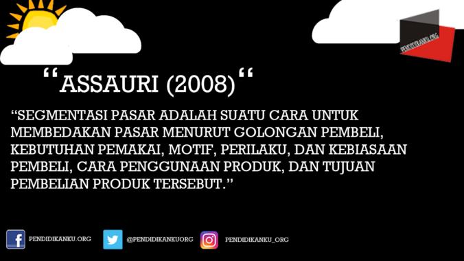 Menurut Assauri (2008)