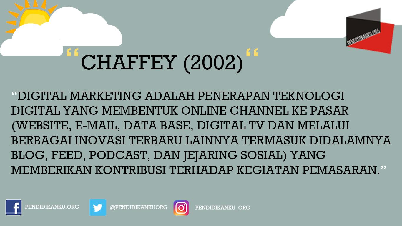 Menurut Chaffey (2002)