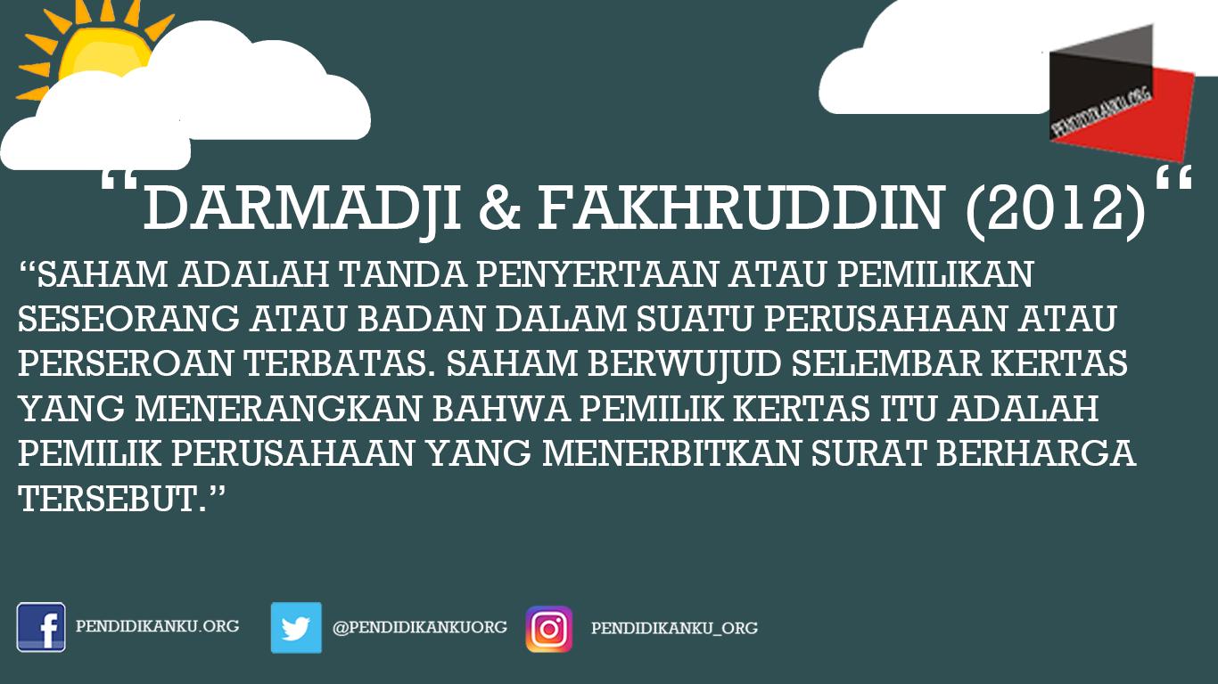 Saham Menurut Darmadji dan Fakhruddin (2012)