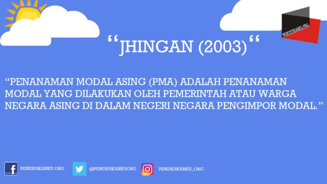 Menurut Jhingan (2003)