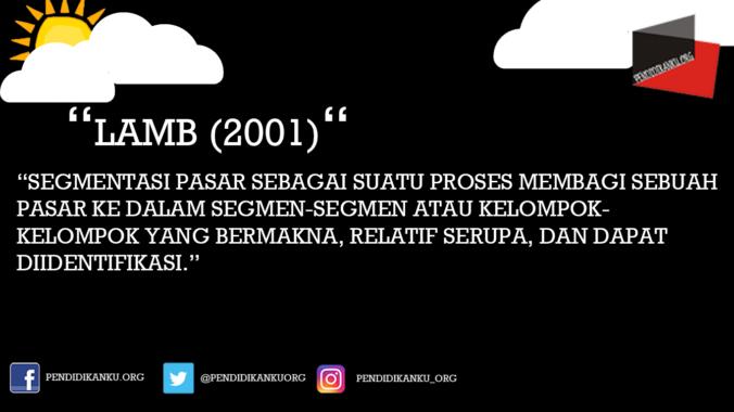 Menurut Lamb (2001)