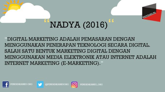 Menurut Nadya (2016)