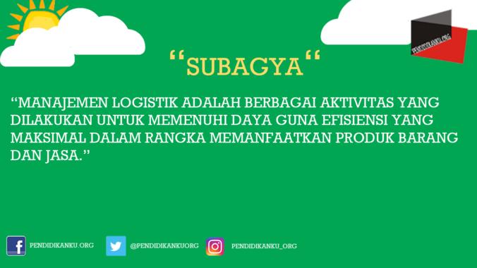 Menurut Subagya
