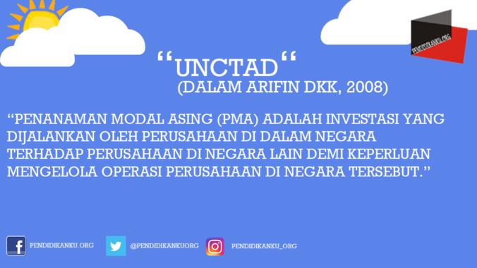 Menurut United Nations Conference on Trade and Development (UNCTAD) (dalam Arifin dkk, 2008)