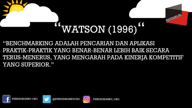 Benchmarking Menurut Watson (1996)
