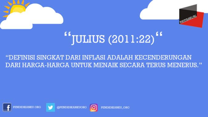 Inflasi Menurut Julius (2011:22)