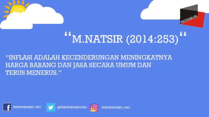 Inflasi Menurut M.Natsir (2014:253)