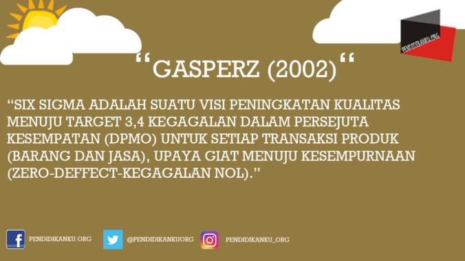 Menurut Gasperz (2002)