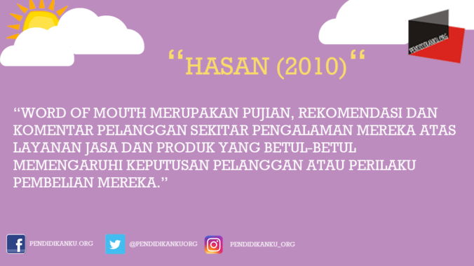 Menurut Hasan (2010)