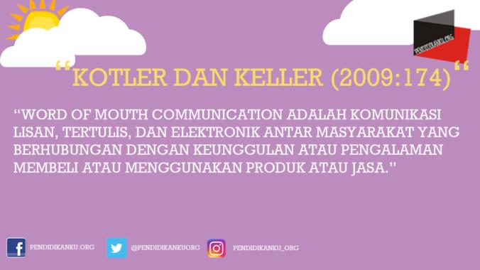 Menurut Kotler dan Keller (2009:174)
