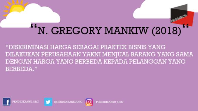 Menurut N. Gregory Mankiw