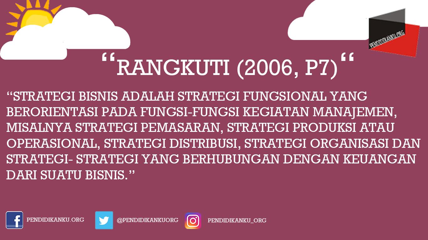 Menurut Rangkuti (2006, p7)