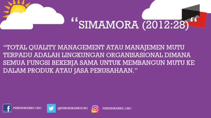 Menurut Simamora (2012:28)